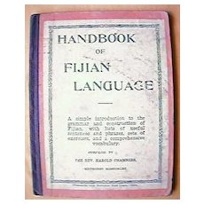 Vintage Handbook of Fijian Languages 1934-1936