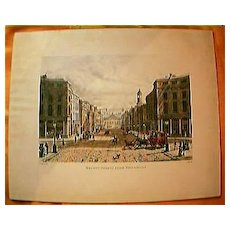 """Vintage Engraving """"Regent Street From Piccadilly"""" Circa Mid 1800's"""