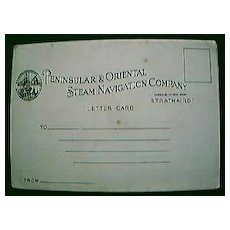"""Vintage Shipping Letter Postcard """"S.S. Strathaird"""" Circa 1930's"""