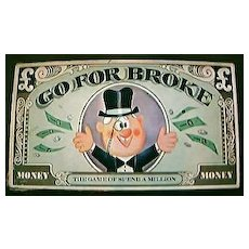 """Vintage Board Game """"GO FOR BROKE""""  1965"""