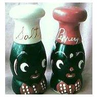 Black Boy & Girl Salt and Pepper Shakers