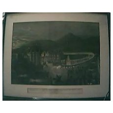 """Magnificent Large Victorian Lithograph """"Departure of Her Majesty For Holyrood"""" 1861"""""""