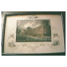 "Antique American Engraving ""Penitentiary, Philadelphia"" Circa Early -Mid1800's"