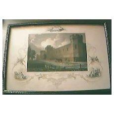 "Antique American Engraving ""Penitentiary, Philadelphia"" Circa Early -Mid1800's"