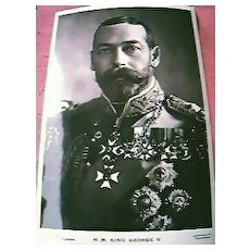 King George V Postcard
