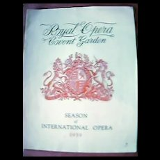 Vintage Royal Opera Covent Garden Program 1939