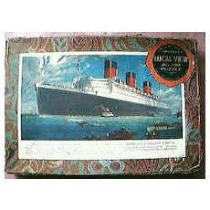 "Vintage  Shipping Jigsaw of Cunard Liner ""Queen Mary"""