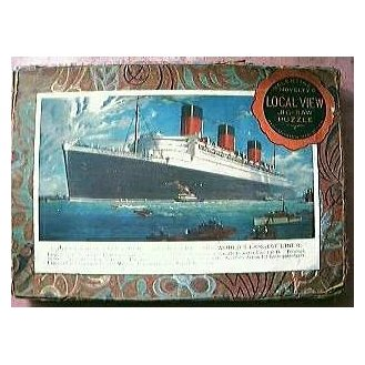 Vintage Shipping Jigsaw of Cunard Liner