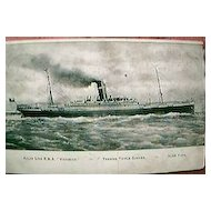 R.M.S. Victorian Shipping Postcard