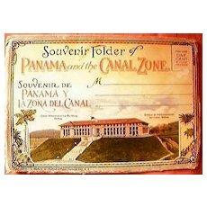 Panama & The Canal Zone Souvenir Folder Circa 1930's