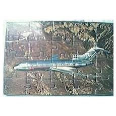 American Airlines  Postcard Jigsaw Circa 1960's