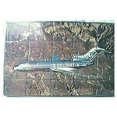 American Airlines  Postcard Jigsaw Circa 1960's