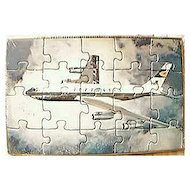 LUFTHANSA  Airlines Postcard Jigsaw Circa 1960's