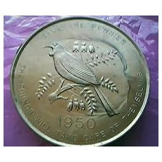 Vintage NZ  Penny Savings Bank 1950