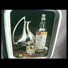 Dewars White Label Whisky Advertising Drinks Tray
