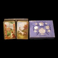 """Vintage Double Deck """"American Beauty"""" Poker Card Game Dog Children Playing School"""