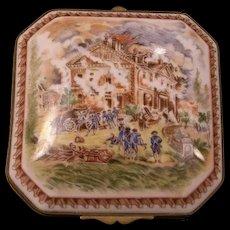 French Porcelain de Paris Portrait Painting Dresser Jewelry Vanity Box Trinket Ring