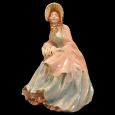 Vintage Chalkware Girl Woman Southern Belle Statue Figure Figurine Bust Lady