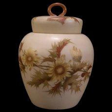Antique Royal Rudolstadt Porcelain Potpourri Biscuit Jar Ginger Tea Caddy German