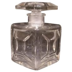 Vintage French Crystal Baccarat Cologne Perfume Scent Bottle Cut Blown Glass
