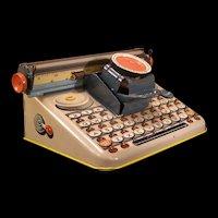 "40's Vintage UNIQUE Tin Litho Toy Dial Typewriter ""Dependable"" Uneek Artie Clown"