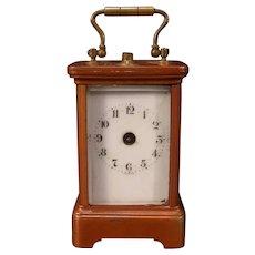 Antique Miniature German SOLID Bronze Case Beveled Repeater Alarm Carriage Clock
