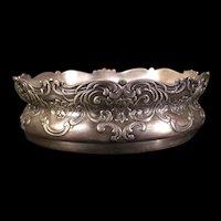 19c Victorian Repousse Silver Portrait Figure Center Piece Fruit Dish Candy Bowl