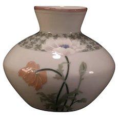 LG Antique Art Nouveau Rorstrand Porcelain Pottery Cosmos Flower Vase Copenhagen