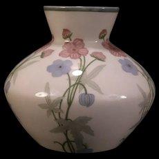 Antique Art Nouveau Rorstrand Porcelain Pottery Phlox Flower Vase Rosenthal Lily