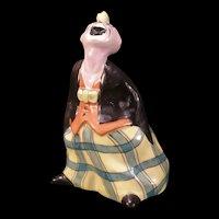 Antique L. H. R. Hutschenreuther German Porcelain Clown Lamp Night Light Boudoir