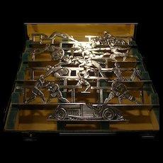 1924 HERMES Sterling Silver Horse-Racing OLYMPICS Place-Card Menu Holders Hermes
