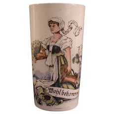 Antique Villeroy Boch Celebration Cup Mettlach German Beer Stein Tankard Mug 19c