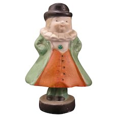 Early 1900's Schafer & Vater German Porcelain Bisque Nodder Figure Jewel Man Clown Doll