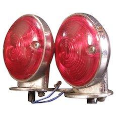 Vintage Harley Davidson Motorcycle Tail Lights Assembly Turn Signal Chrome Lamp