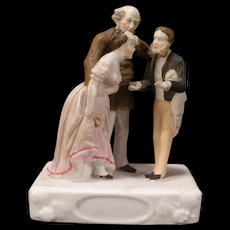19 c Conta & Boehme Porcelain Bisque Risque Figurine Woman Statue Doctor Fairing