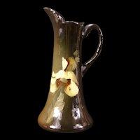 "Antique Standard Glaze J B Owens ""Utopian"" Art Pottery Pitcher Vase Orchid Flower"