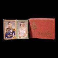 1935 Vintage Playing Cards King George V1 Royal Wedding Coronation Game Deck Box