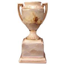1800's Victoria Austria Porcelain Angel Cherub Miniature Urn Vienna Vase Carlsbad