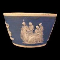 19 c Brownhills Pottery Jasperware Tunstall Staffordshire Salt Cellar Neoclassical