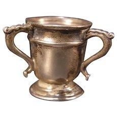 RARE 1911 Art Nouveau Humphries Sterling Silver Miniature Loving Cup Trophy Vase