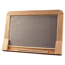 1800's  Teacher Card Slat Slate Chalk Board School House Desk Wood Black Pencil Box