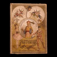 19c McLoughlin Bros Aladdin Lamp Pantomime Toy Flip Theater Fairy Tale Book Game