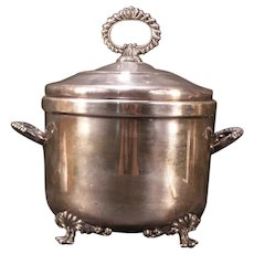 Vintage Silver Plate Baroque Holloware Wine Champagne Ice Bucket Serving Dish