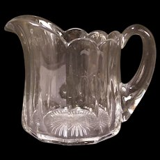 1920's Heisey Glass Colonial Puritan Pattern EAPG Crystal Pitcher Tankard