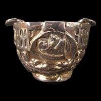 RARE Vintage Valmazan Sarreid LMD Silver Relief Gothic Portrait Bowl Ash Tray