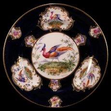 1902 TIFFANY Doulton Hand Painted Plate PHOENIX Bird Portrait Plaque Porcelain