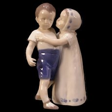 Vintage Bing and Grondahl B&G #1614 Love Refused Figure Statue Sculpture Child