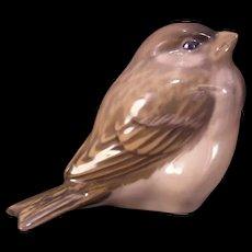 Vintage Royal Copenhagen Porcelain Bird Figurine #1519 Sparrow Statue Sculpture