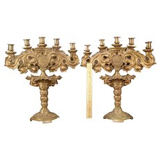 LG 1800's Arts & Crafts Solid Bronze Butterfly Candle Holder Stick Candelabra Gothic