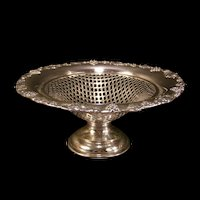 1915 Paul Revere Silver Center Piece Bowl Candy Dish Fruit Compote Reticulated